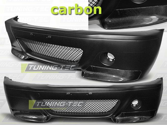 Фото - Бампер передний BMW E46 COUPE 99-05 CSL LOOK CARBON (ZPBM05)