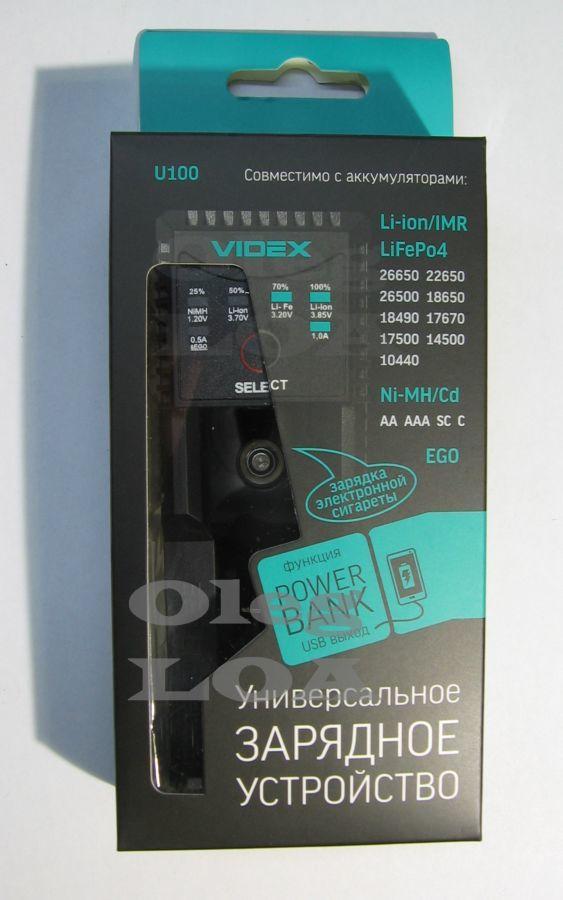 Фото - Универсальная зарядка-павербанк Videx U100 Li-ion,LiFePO4, 4,35в EGO