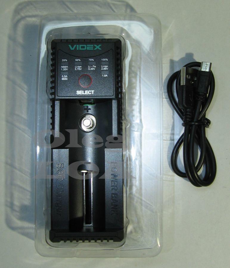 Фото 4 - Универсальная зарядка-павербанк Videx U100 Li-ion,LiFePO4, 4,35в EGO