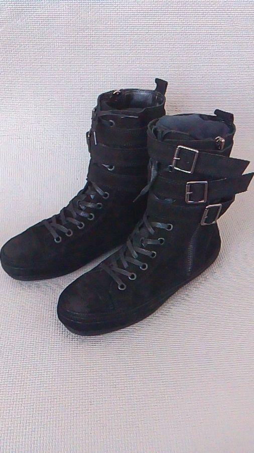 Фото 5 - Мужские замшевые сапоги (высокие ботинки)