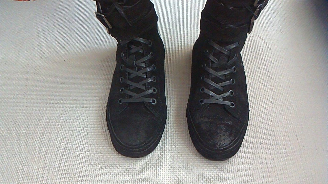 Фото 7 - Мужские замшевые сапоги (высокие ботинки)