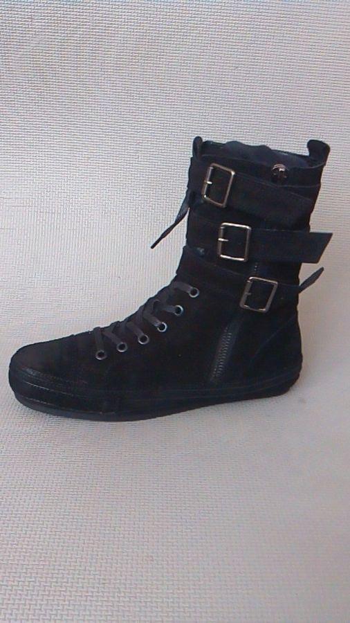 Фото 3 - Мужские замшевые сапоги (высокие ботинки)