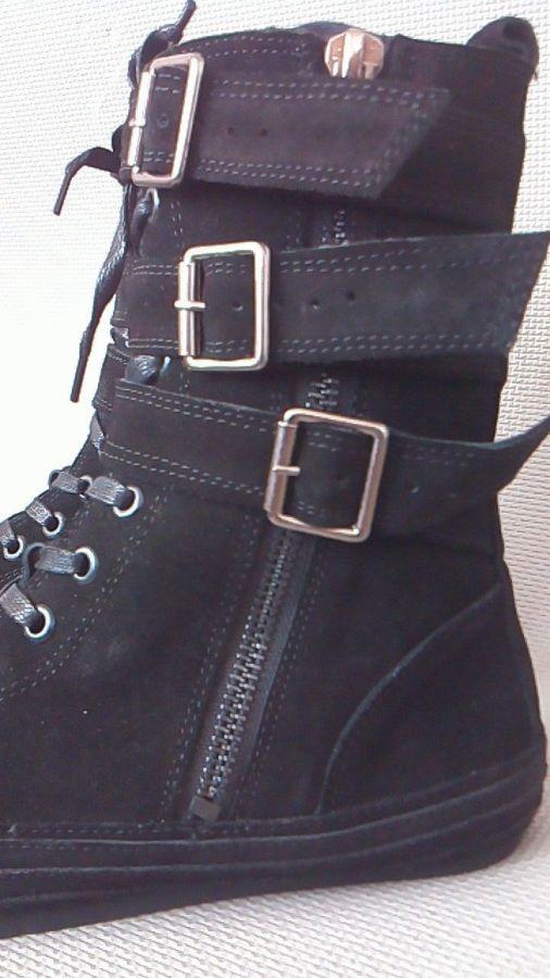 Фото 4 - Мужские замшевые сапоги (высокие ботинки)