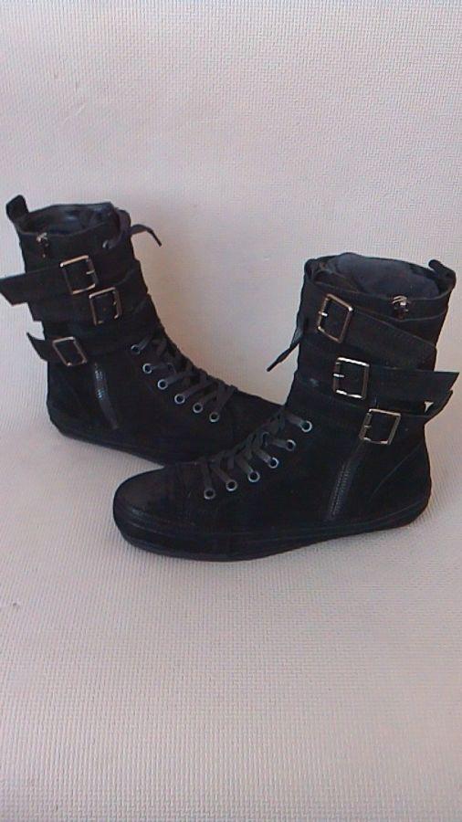 Фото 6 - Мужские замшевые сапоги (высокие ботинки)