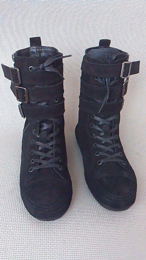 Фото - Мужские замшевые сапоги (высокие ботинки)