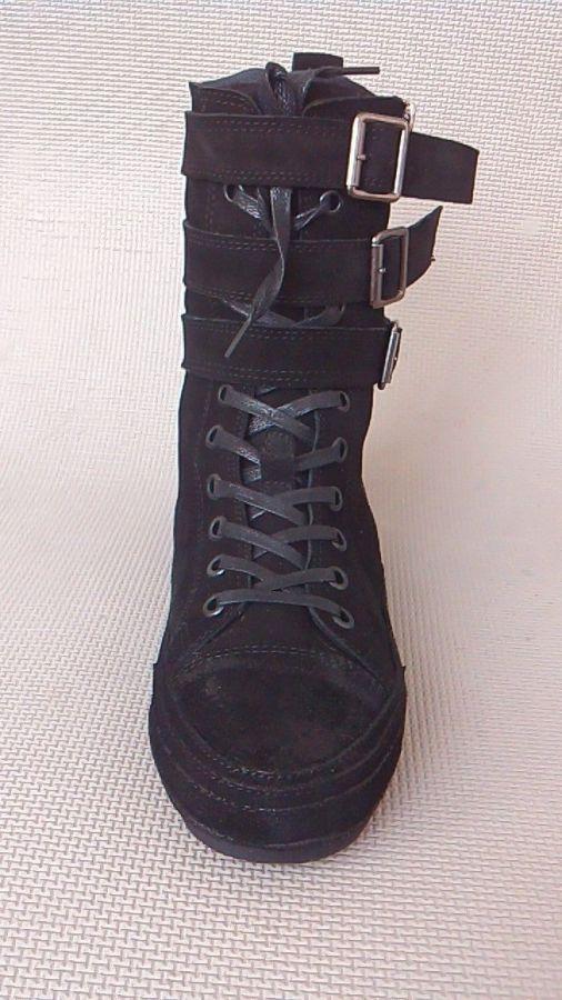 Фото 2 - Мужские замшевые сапоги (высокие ботинки)