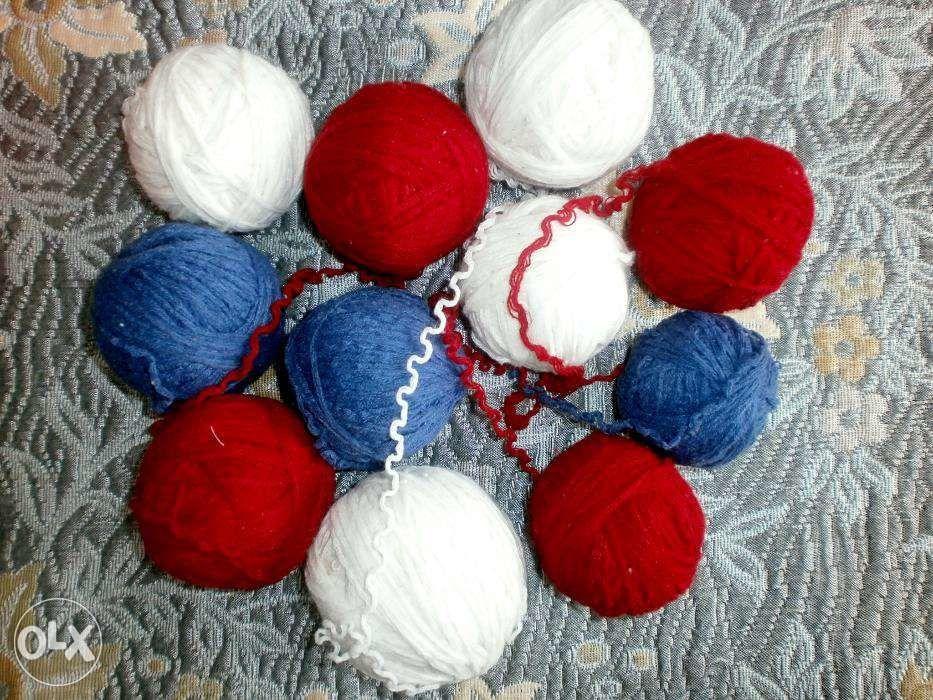 Фото 2 - Пряжа нитки для вязания три цвета, ассорти, вес 680 гр