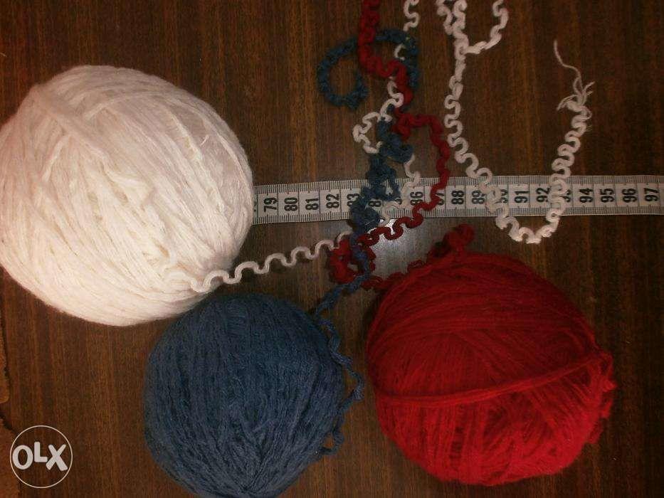 Фото 6 - Пряжа нитки для вязания три цвета, ассорти, вес 680 гр