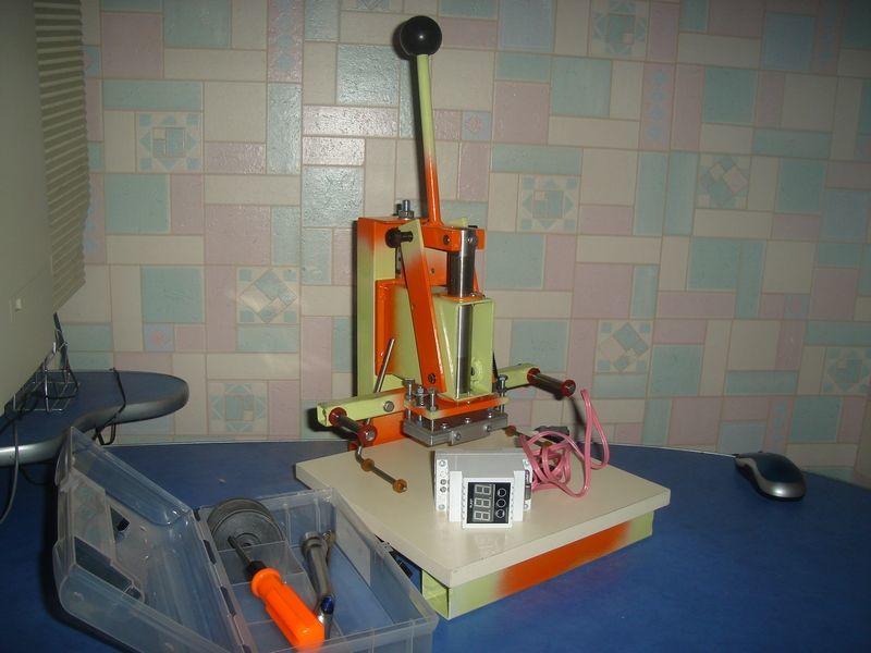 Фото - Станок пресс для тиснения фольгой, термопресс для тиснения