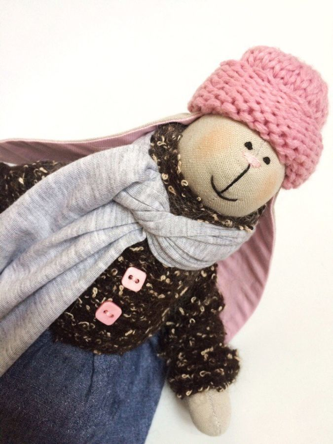 Фото 2 - Зайка тильда, заюня ручная работа, подарок дочке девушке день рождение