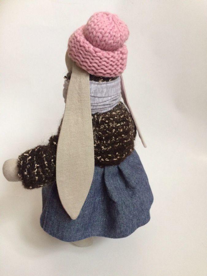 Фото 3 - Зайка тильда, заюня ручная работа, подарок дочке девушке день рождение