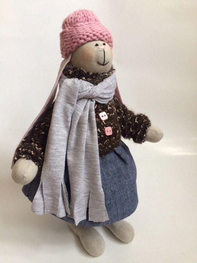 Фото 7 - Зайка тильда, заюня ручная работа, подарок дочке девушке день рождение