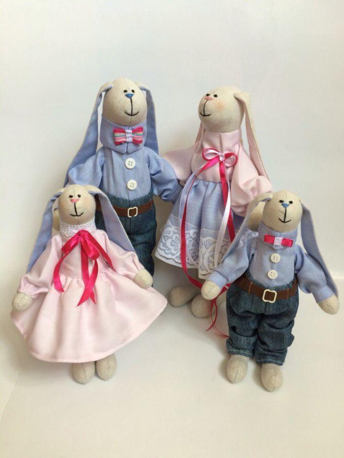 Фото 8 - Семья заек тильда SWEET FAMILY, пара заек, ручная работа, подарок