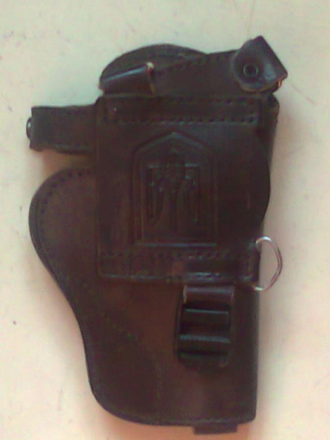 Фото 5 - кобура оперативная кожа универсальная коричневая левая