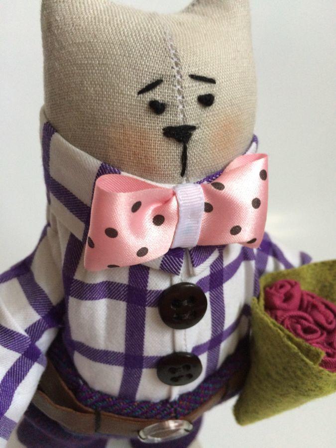 Фото 2 - Мартовский кот, котик тильда, ручная работа, оригинальный подарок
