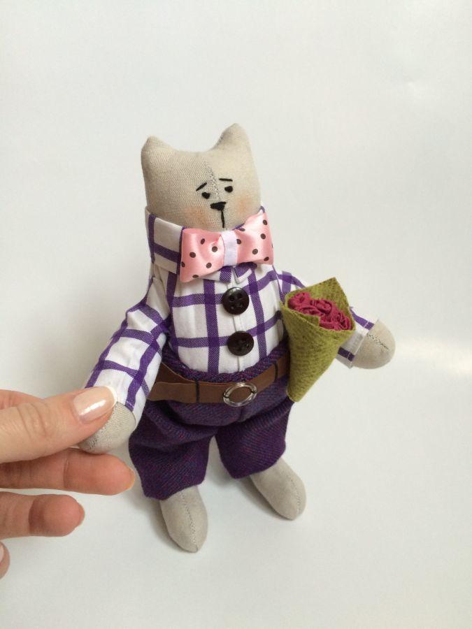 Фото 4 - Мартовский кот, котик тильда, ручная работа, оригинальный подарок