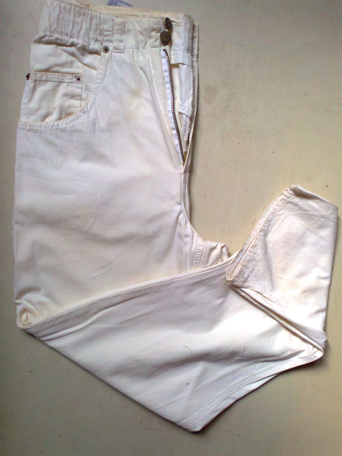 Фото 3 - коттон брюки женские белые 46-48р