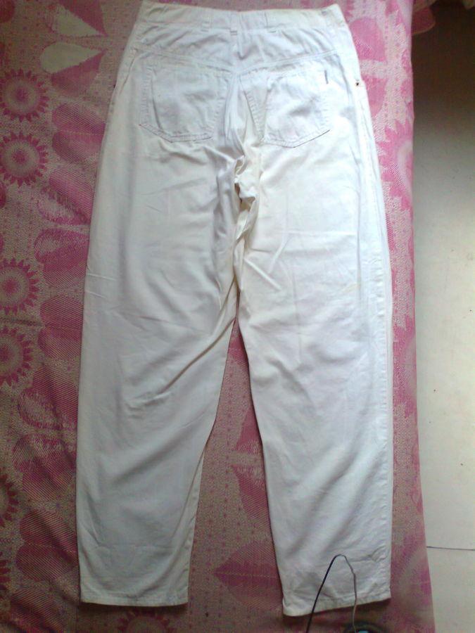 Фото - коттон брюки женские белые 46-48р