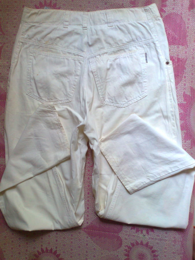 Фото 6 - коттон брюки женские белые 46-48р