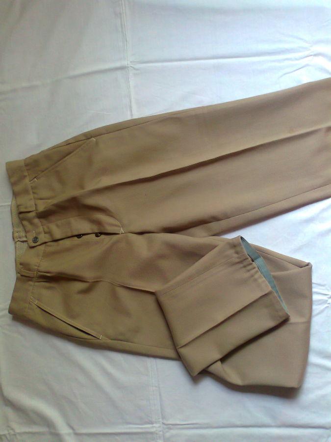 Фото 7 - брюки мужские демисезон беж койот стильные дудочки 48р