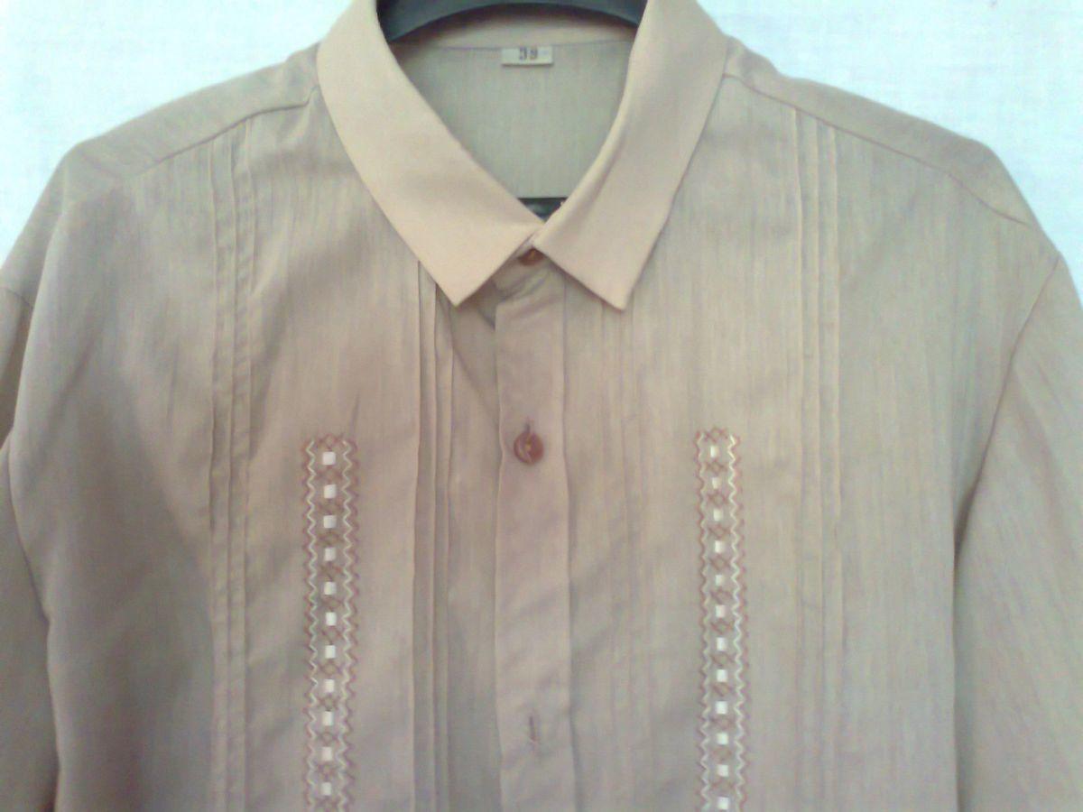 Фото - приталенная рубашка мужская беж койот вор 39