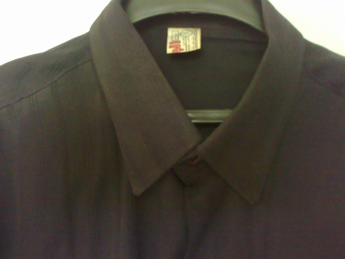 Фото - мужская рубашка черная вор 40