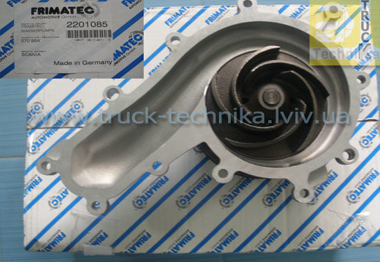 Фото - Водяной насос SCANIA система охлаждения двигатель DC16