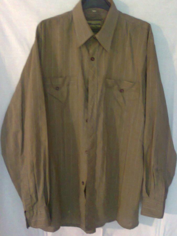 Фото 2 - рубашка мужская классная горчичный цвет вор 49