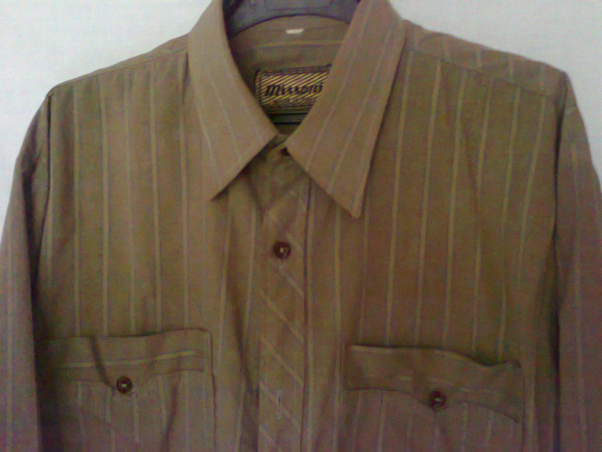 Фото 3 - рубашка мужская классная горчичный цвет вор 49