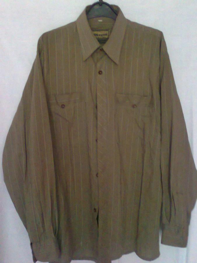Фото - рубашка мужская классная горчичный цвет вор 49