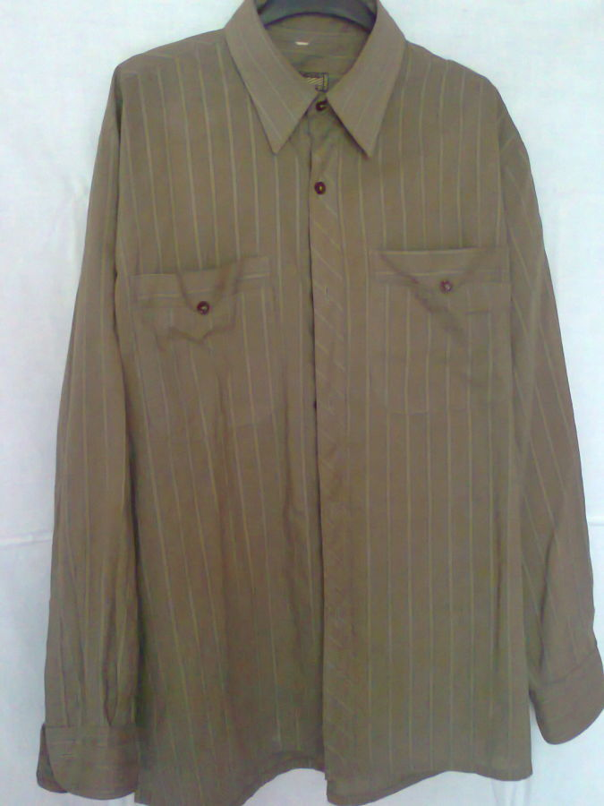 Фото 5 - рубашка мужская классная горчичный цвет вор 49