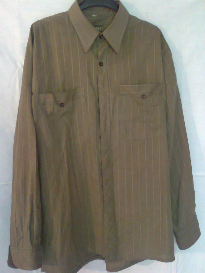Фото 8 - рубашка мужская классная горчичный цвет вор 49