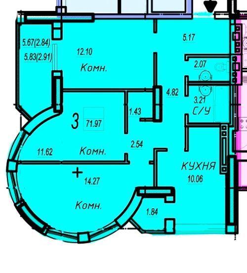Фото - ! Продам 3 комнатную квартиру на Левитана