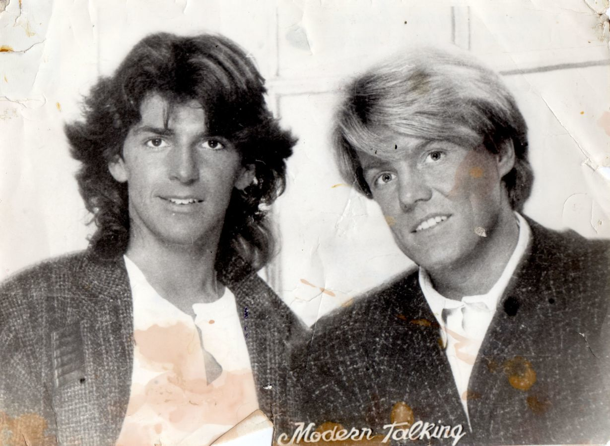 Фото 2 - Modern Talking (Фотография-Постер) 1985.