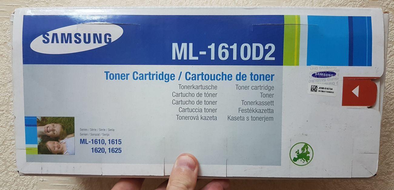 Фото 2 - Оригинальный тонер-картридж Samsung ML-1610D2
