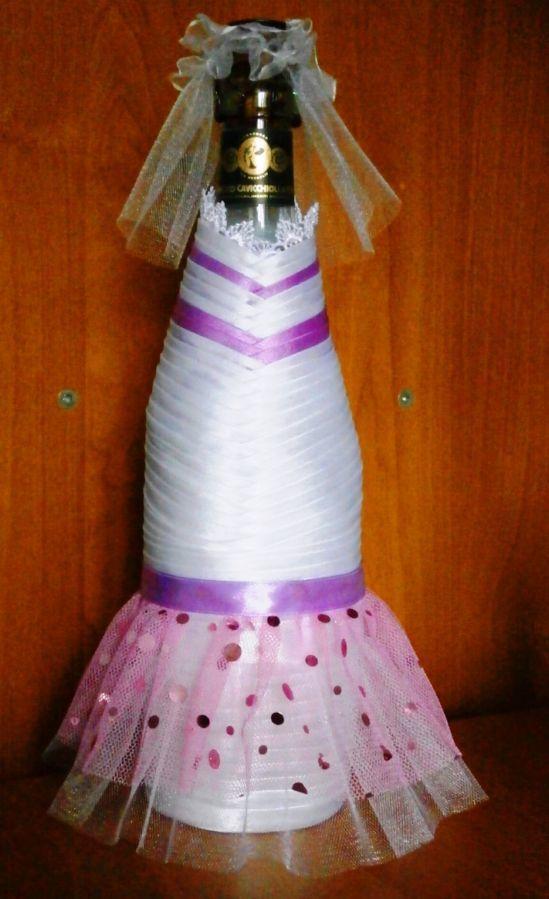 Фото 9 - Свадебные украшения на шампанское