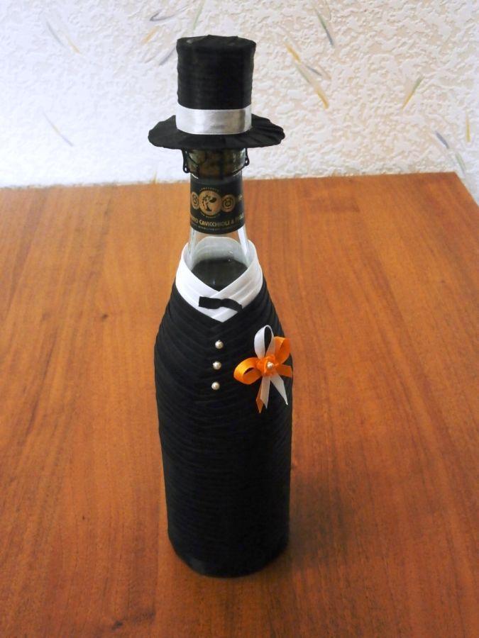Фото 3 - Свадебные украшения на шампанское