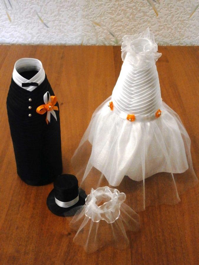 Фото 2 - Свадебные украшения на шампанское