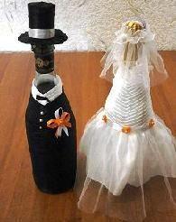 Фото - Свадебные украшения на шампанское