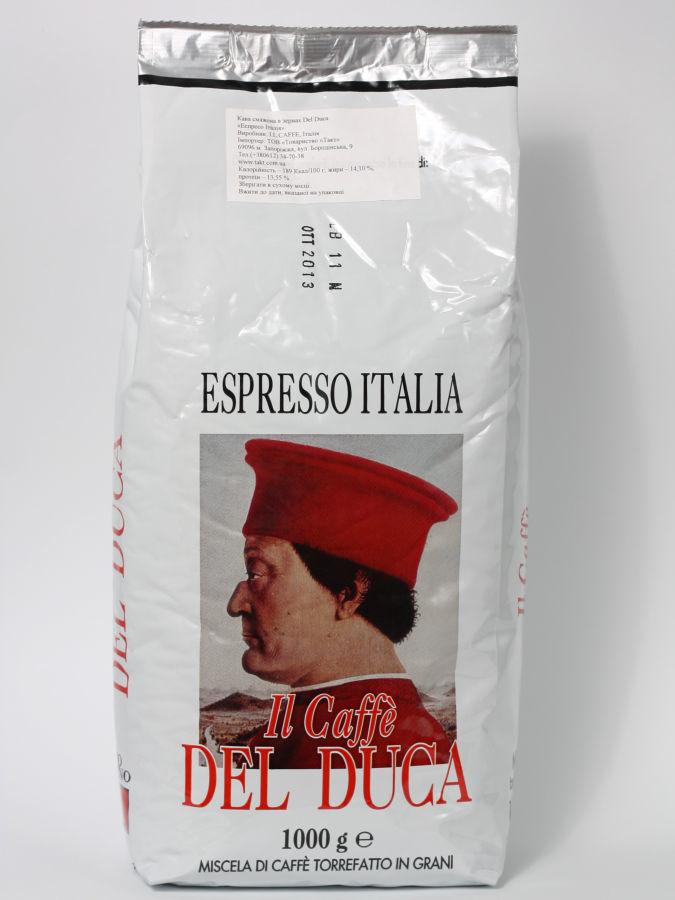Фото - Кофе в зернах Del Duca Espresso Italia 1 кгг