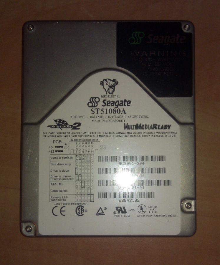 Фото - Жесткий диск HDD Seagate ST51080A 1GB IDE