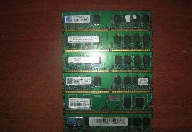 Фото 6 - память DDR 2 на 1GB PC 6400, различных фир, DDR2 1 GB 800 MHz и 667