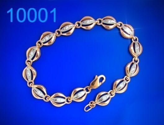 Фото - Золотий браслет 585 проби - 17,5 см. (10001)
