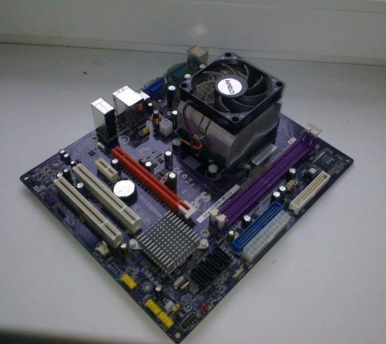 Фото - Комплект 2 ядра - МАТ. ПЛАТА S AM2 + Процессор AMD Athlon X2 4400 sam2