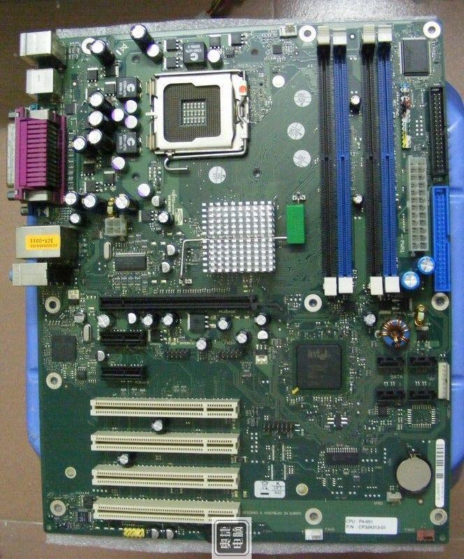 Фото - надежная Плата s775 на DDR2 понимает 2 ядра процы INTEL Core2DUO 775