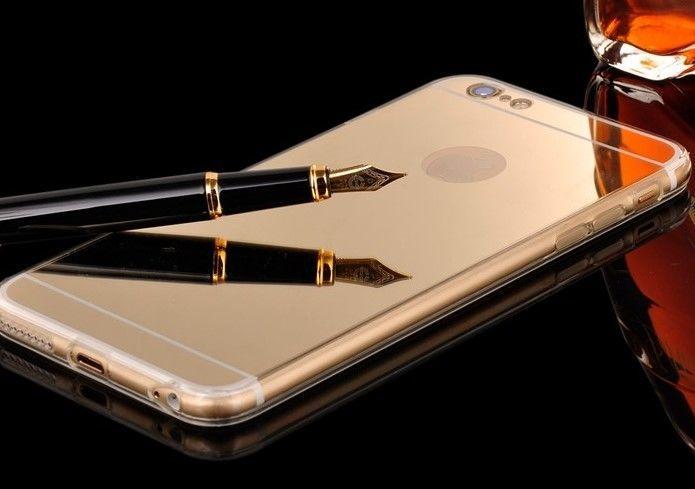 Фото 3 - Чехол бампер для айфон 4 4S/5 5S/ 6 6S/6 плюс/7 7+ зеркальный