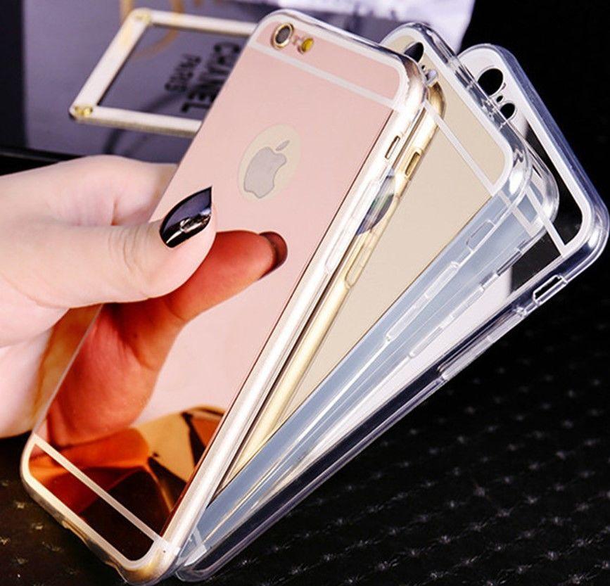Фото 2 - Чехол бампер для айфон 4 4S/5 5S/ 6 6S/6 плюс/7 7+ зеркальный