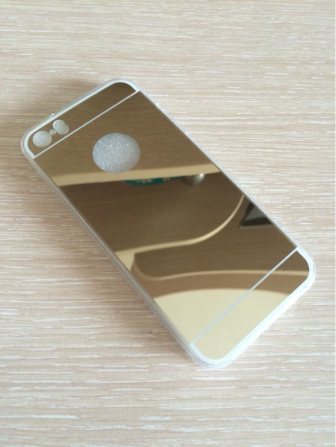 Фото 5 - Чехол бампер для айфон 4 4S/5 5S/ 6 6S/6 плюс/7 7+ зеркальный
