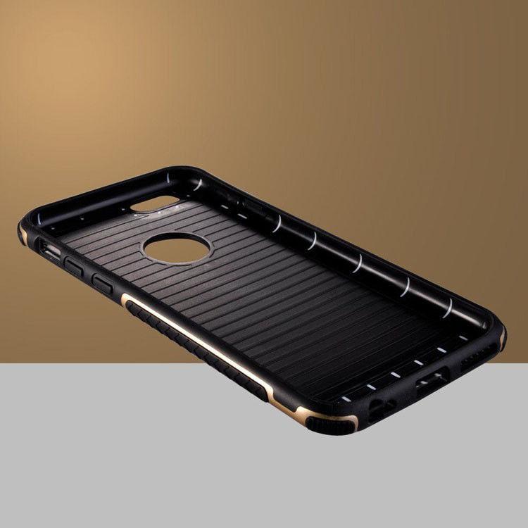 Фото 2 - Чехол для iPhone 5 5S/6/6S/ 6+/7  противоударный прорезиненный