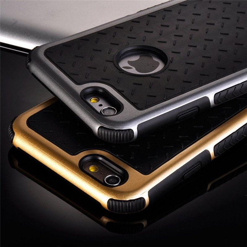 Фото 4 - Чехол для iPhone 5 5S/6/6S/ 6+/7  противоударный прорезиненный